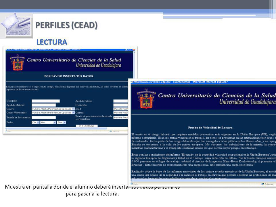 PERFILES (CEAD) LECTURA
