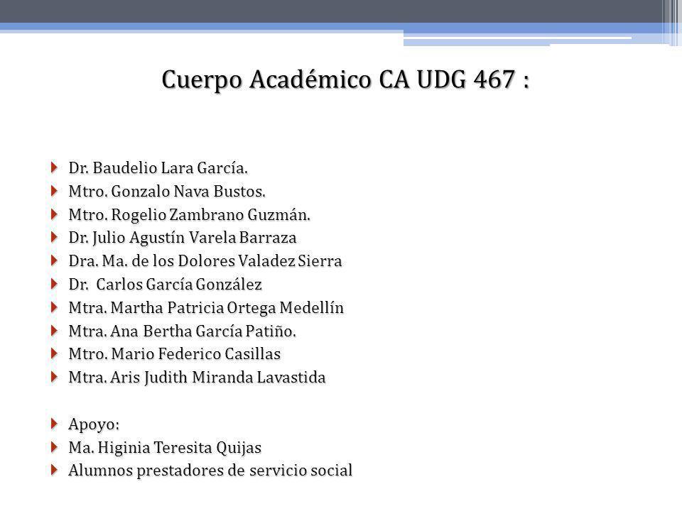 Cuerpo Académico CA UDG 467 :