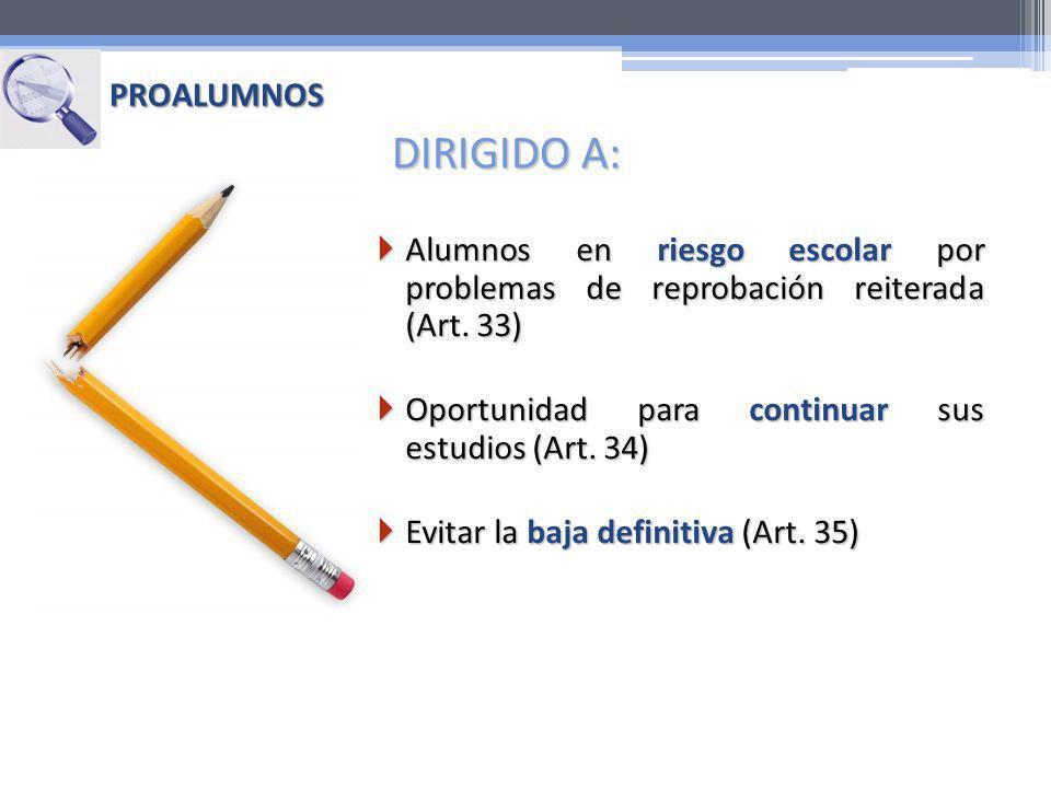 DIRIGIDO A: PROALUMNOS