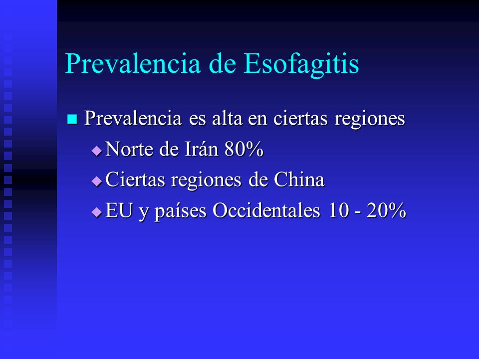 Prevalencia de Esofagitis