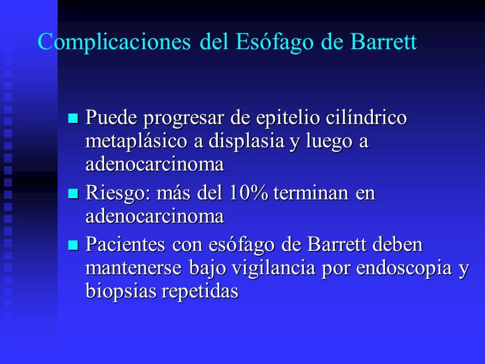 Complicaciones del Esófago de Barrett