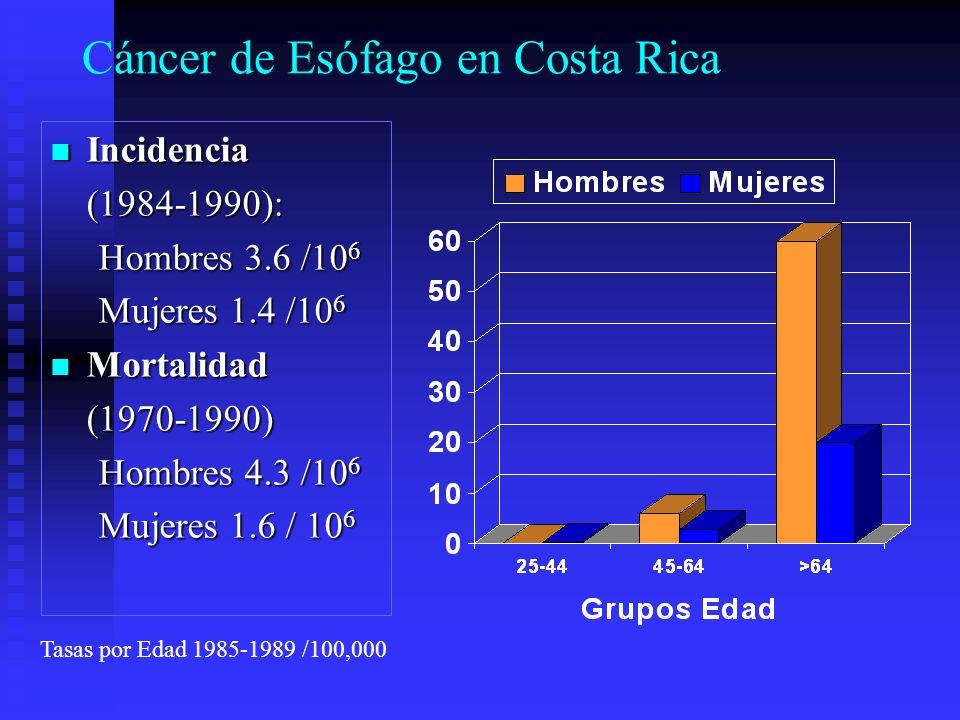 Cáncer de Esófago en Costa Rica