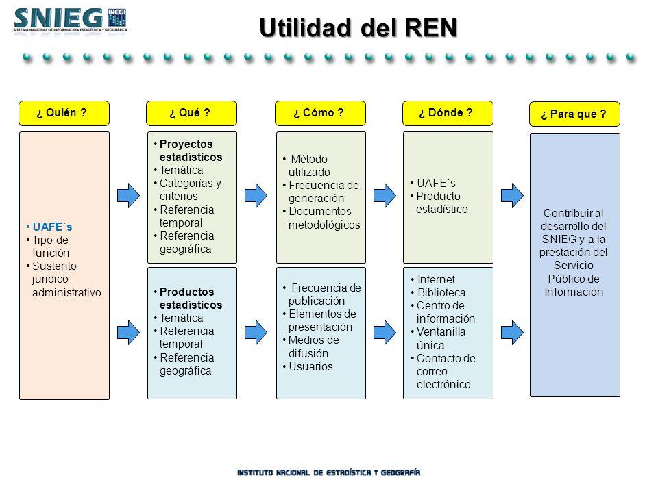 Utilidad del REN UAFE´s Tipo de función
