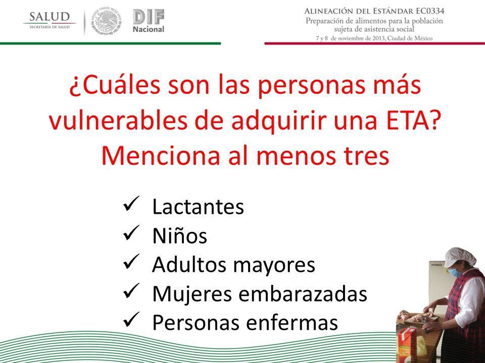 ¿Cuáles son las personas más vulnerables de adquirir una ETA