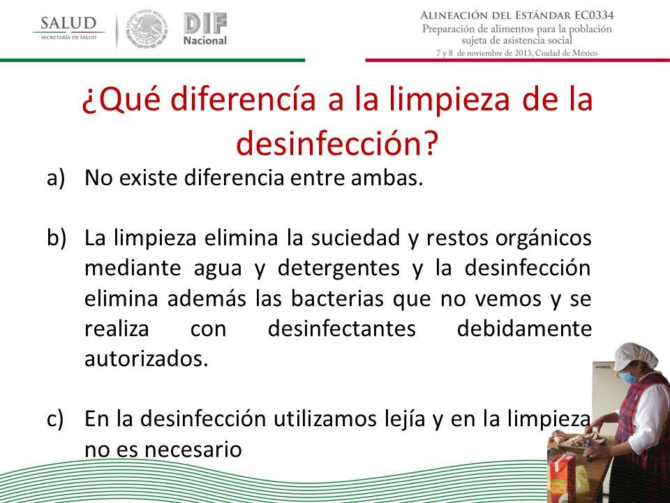 ¿Qué diferencía a la limpieza de la desinfección