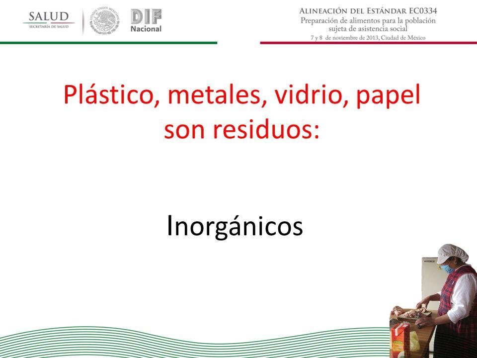 Plástico, metales, vidrio, papel son residuos: