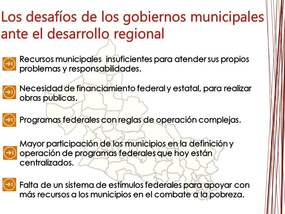 Los desafíos de los gobiernos municipales ante el desarrollo regional