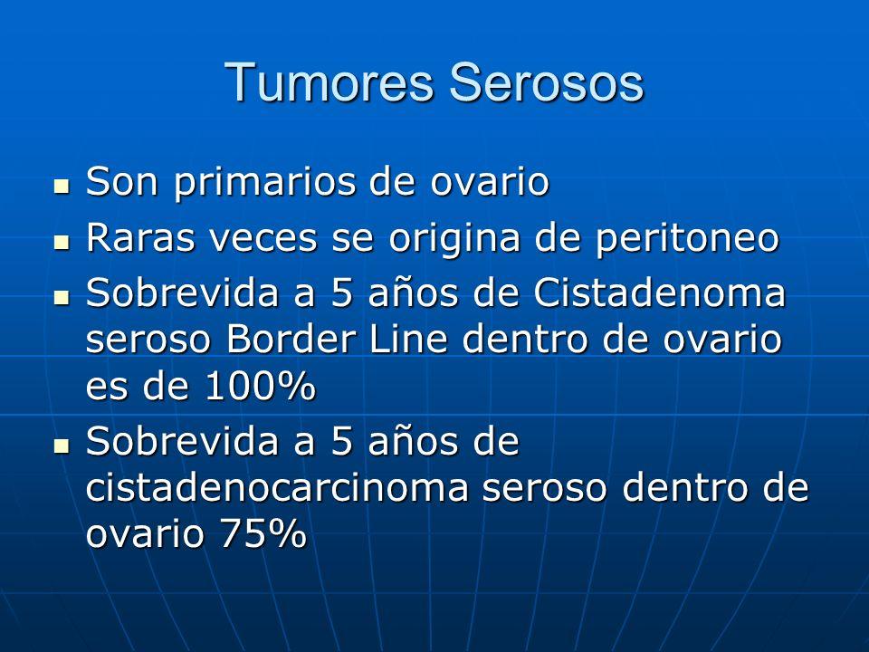 Tumores Serosos Son primarios de ovario