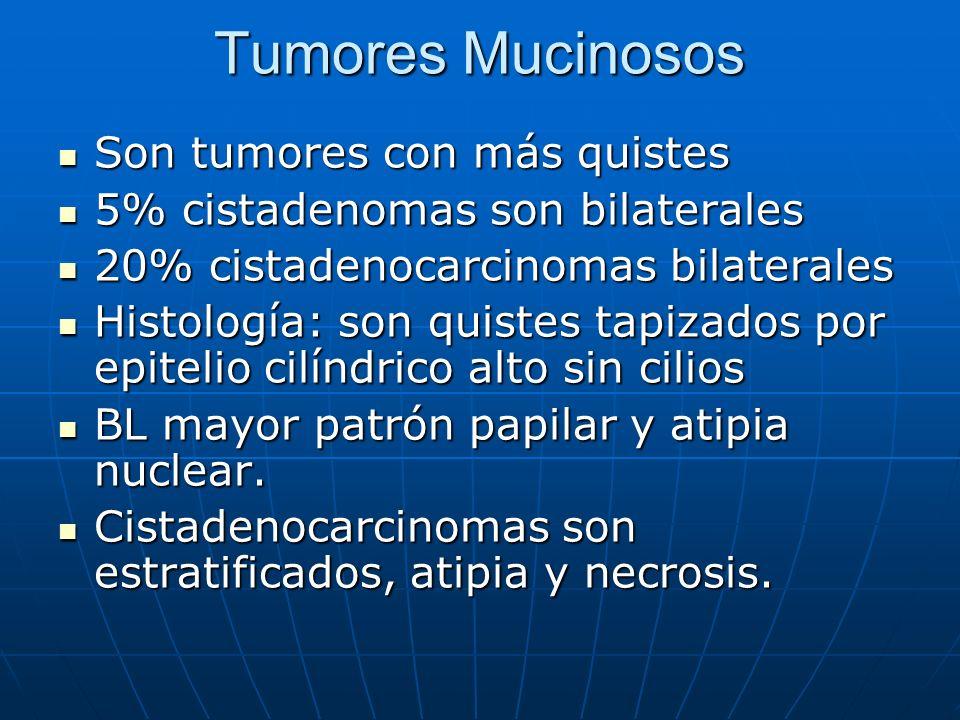 Tumores Mucinosos Son tumores con más quistes