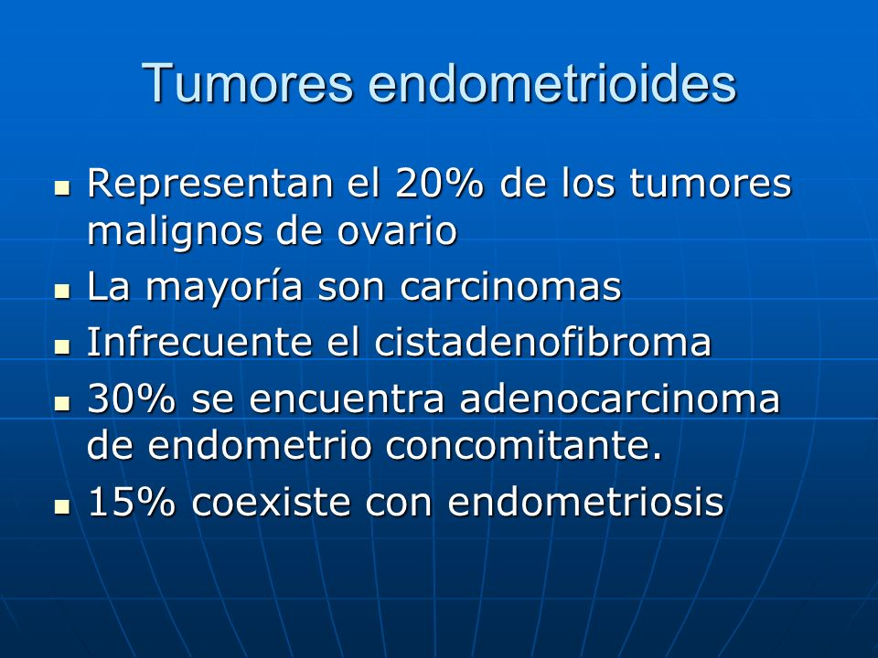 Tumores endometrioides