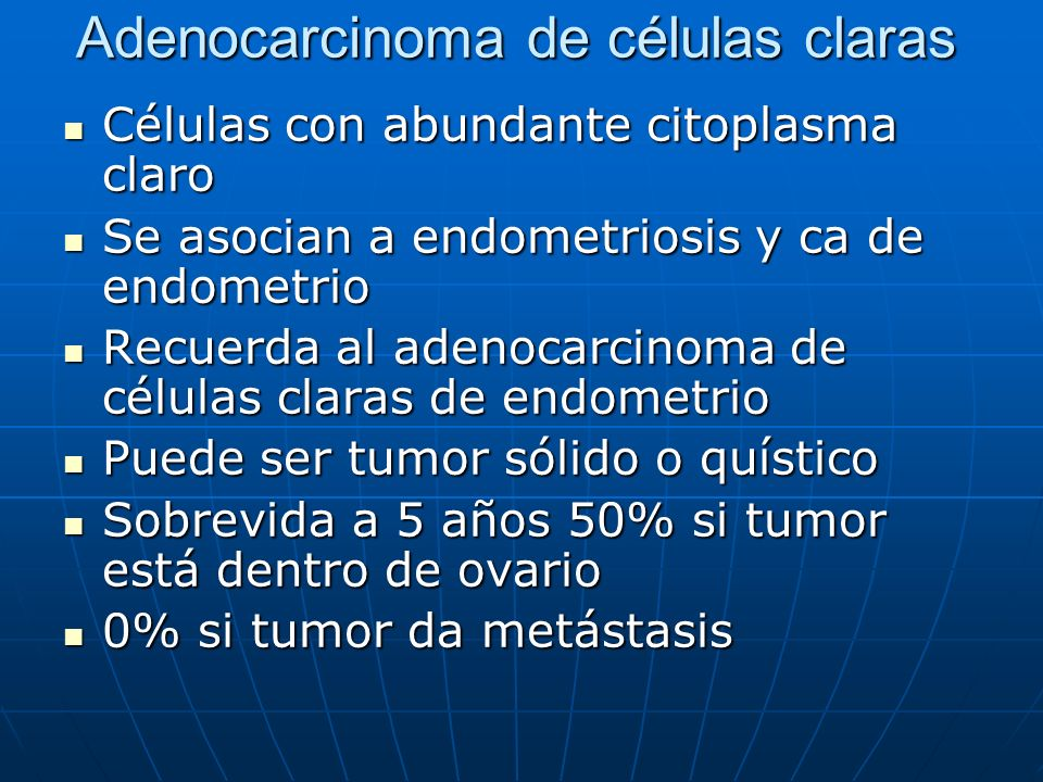 Adenocarcinoma de células claras