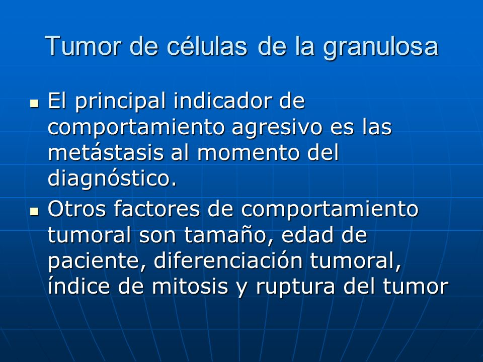 Tumor de células de la granulosa