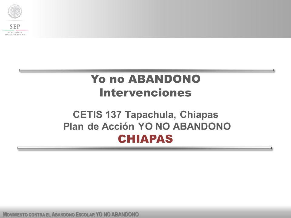 CETIS 137 Tapachula, Chiapas Plan de Acción YO NO ABANDONO