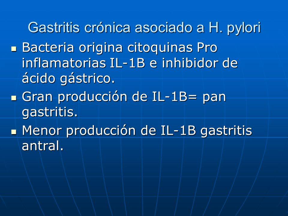 Gastritis crónica asociado a H. pylori