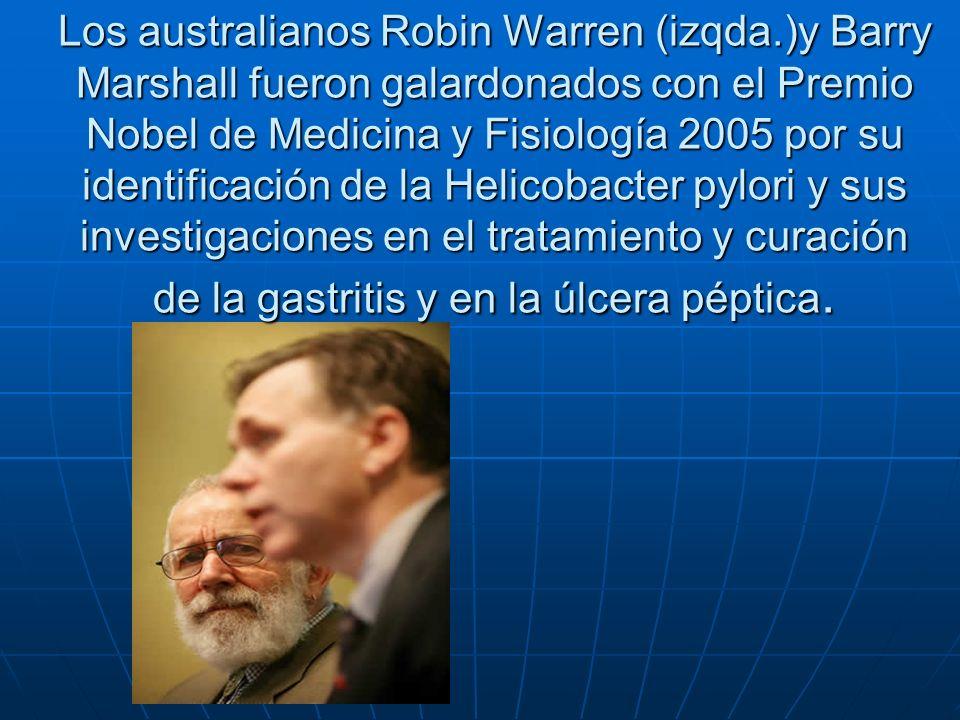 Los australianos Robin Warren (izqda