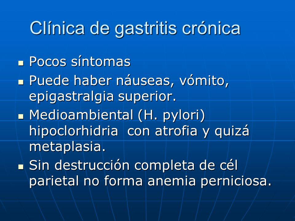 Clínica de gastritis crónica