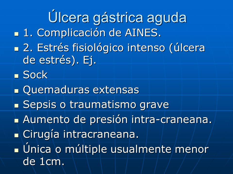 Úlcera gástrica aguda 1. Complicación de AINES.