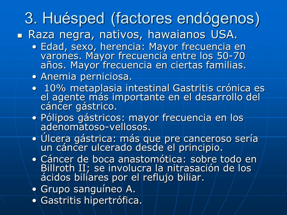 3. Huésped (factores endógenos)