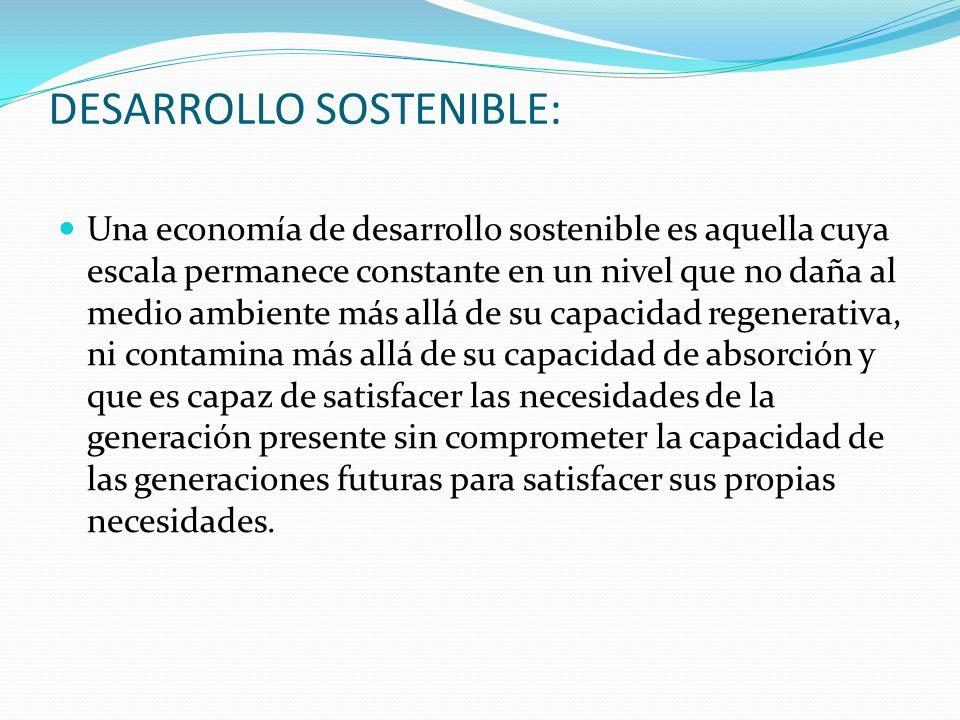 DESARROLLO SOSTENIBLE: