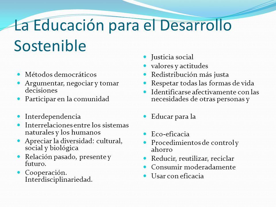 La Educación para el Desarrollo Sostenible