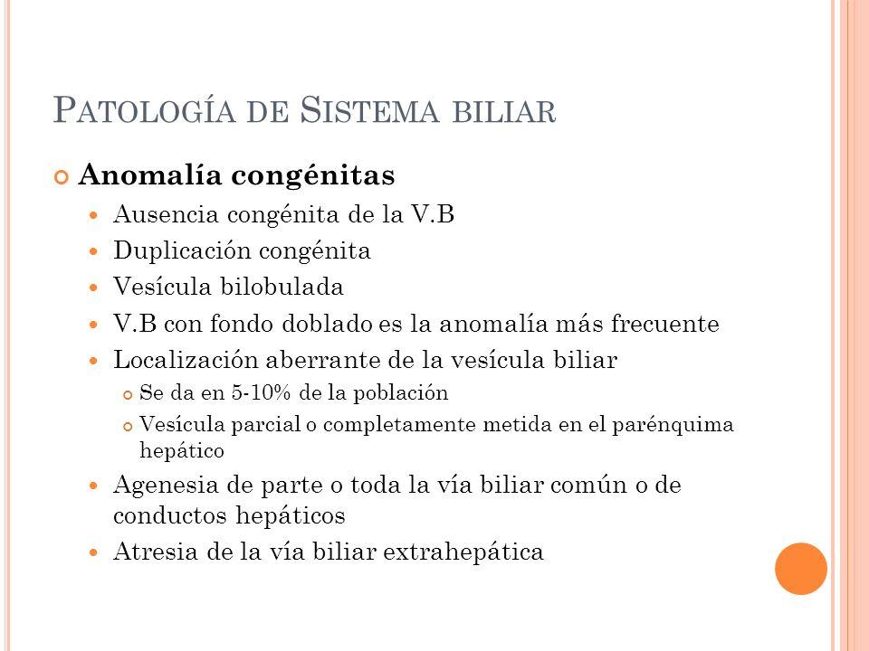 Patología de Sistema biliar
