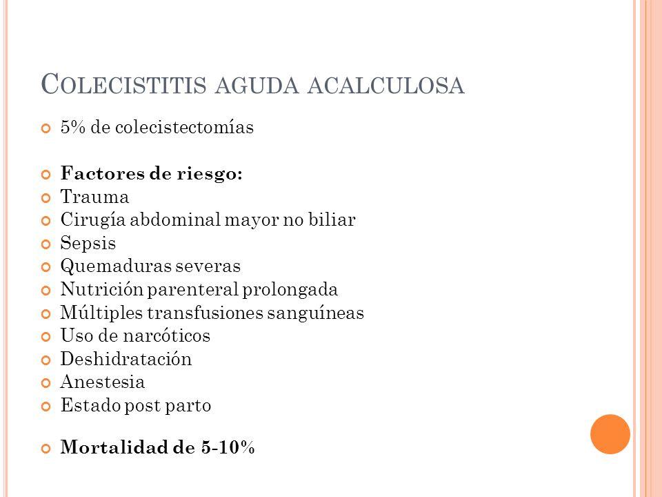Colecistitis aguda acalculosa