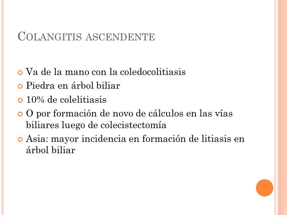 Colangitis ascendente