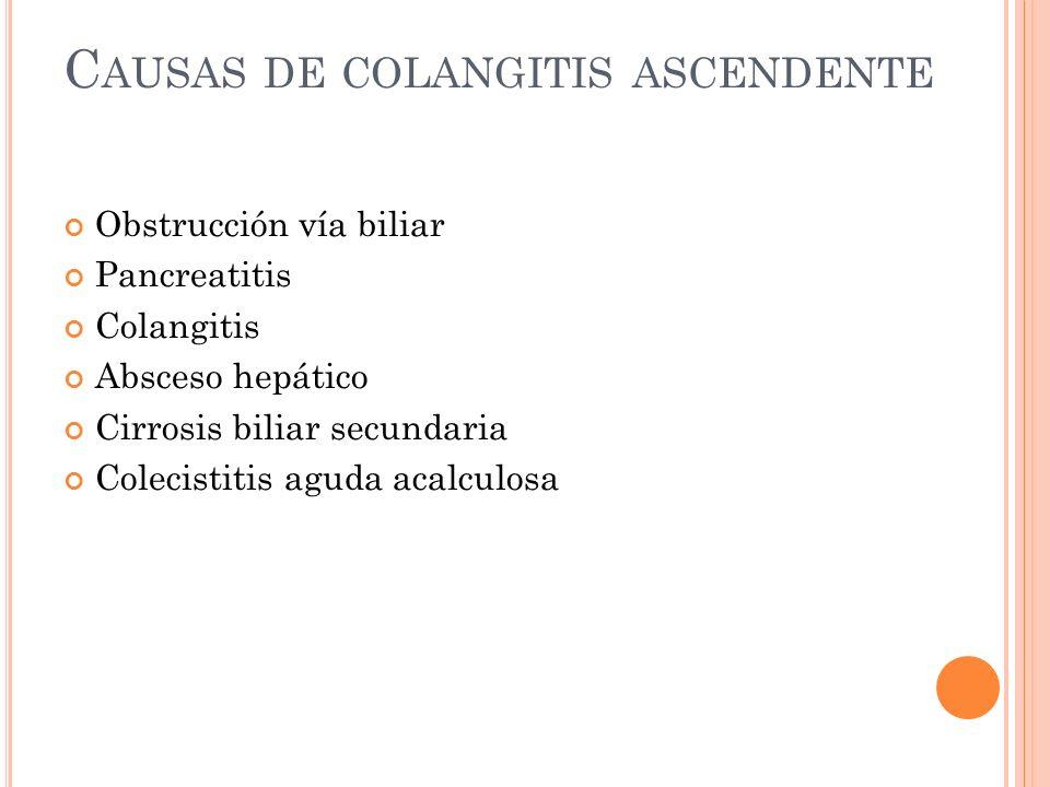 Causas de colangitis ascendente