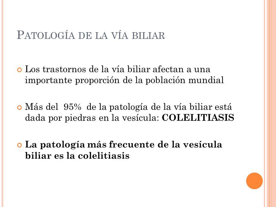 Patología de la vía biliar