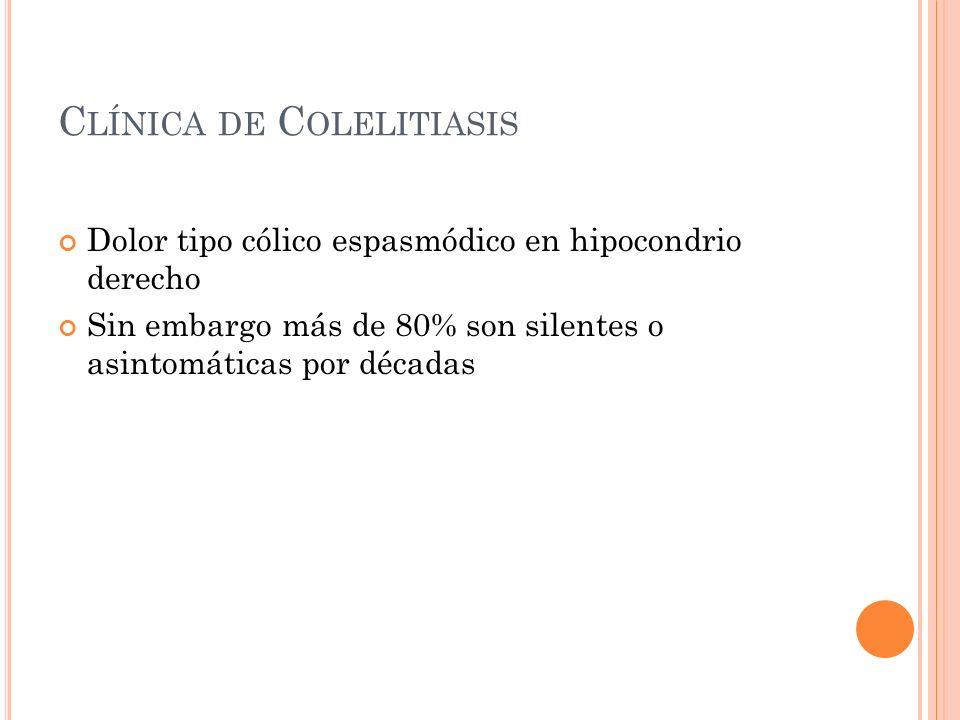 Clínica de Colelitiasis