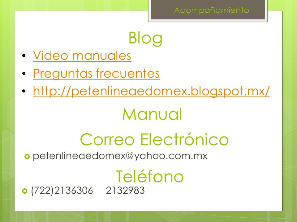 Blog Manual Correo Electrónico Teléfono Video manuales