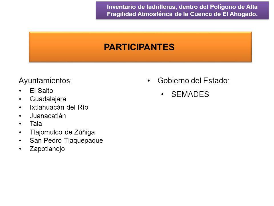 PARTICIPANTES Ayuntamientos: Gobierno del Estado: SEMADES El Salto