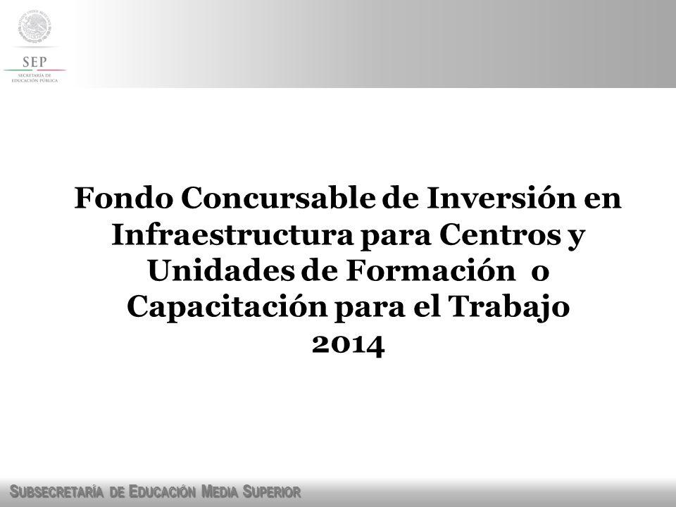 Fondo Concursable de Inversión en Infraestructura para Centros y Unidades de Formación o Capacitación para el Trabajo