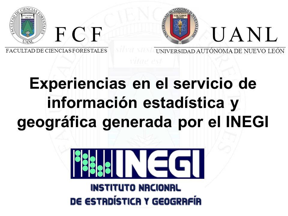 FCF UANL. UNIVERSIDAD AUTÓNOMA DE NUEVO LEÓN. FACULTAD DE CIENCIAS FORESTALES.