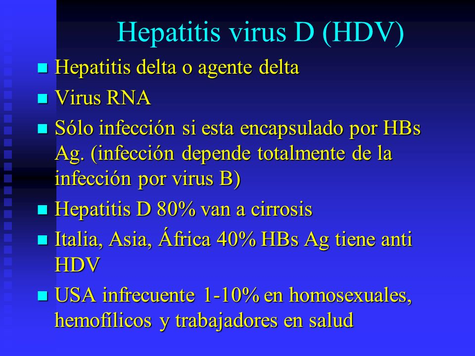 Hepatitis virus D (HDV)