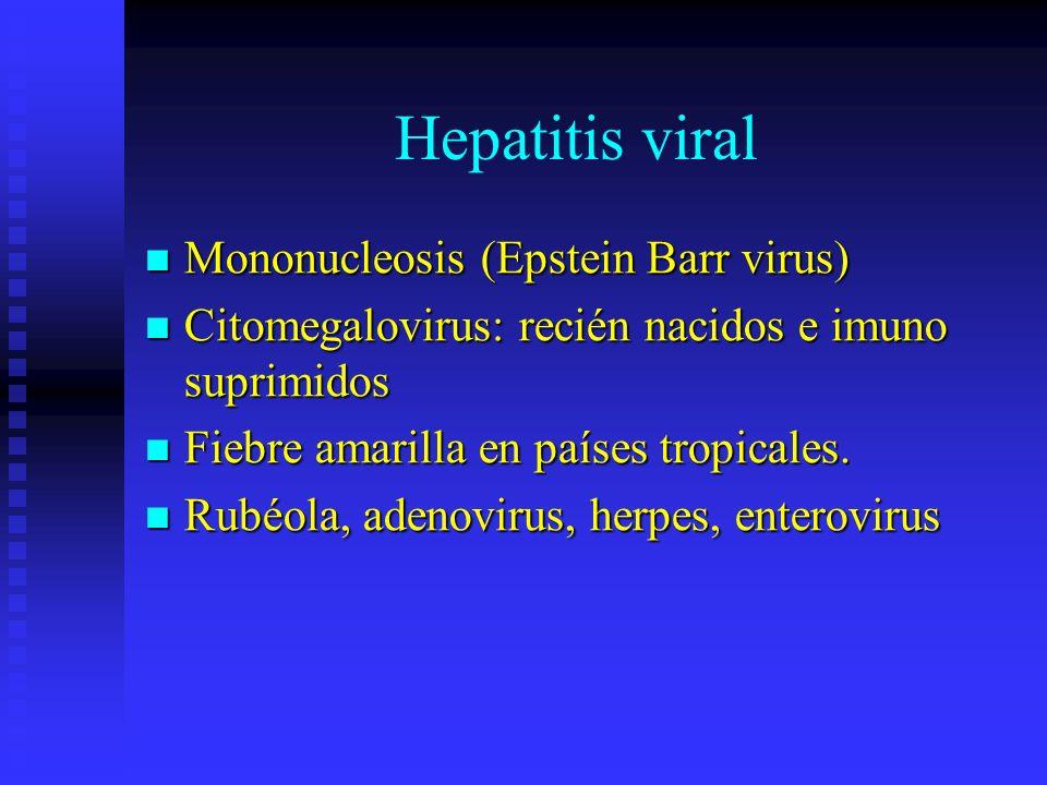 Hepatitis viral Mononucleosis (Epstein Barr virus)