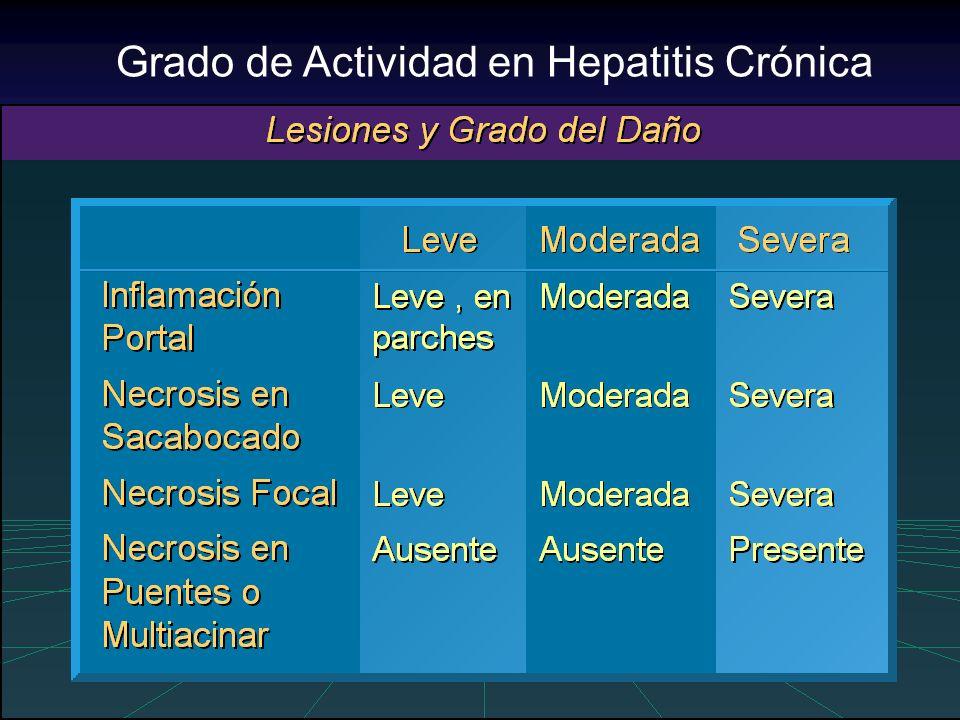 Grado de Actividad en Hepatitis Crónica