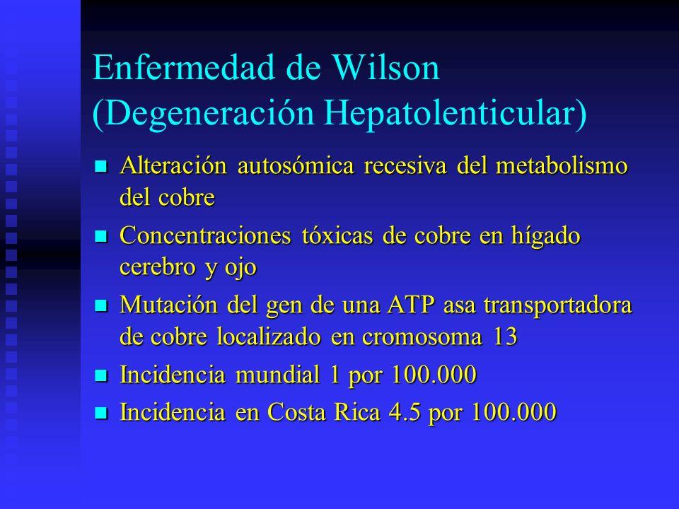 Enfermedad de Wilson (Degeneración Hepatolenticular)