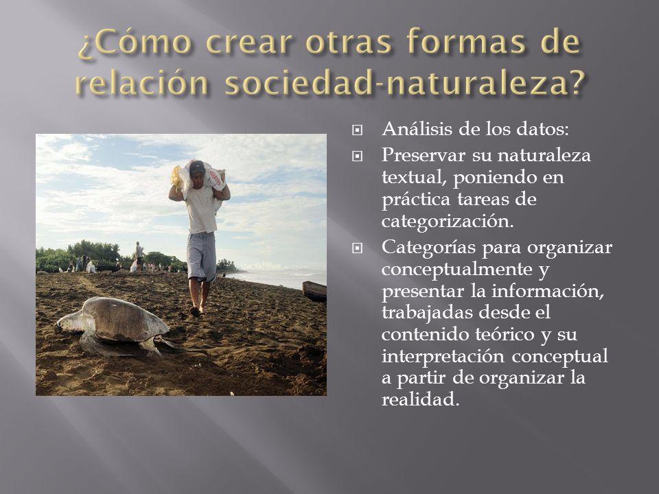 ¿Cómo crear otras formas de relación sociedad-naturaleza