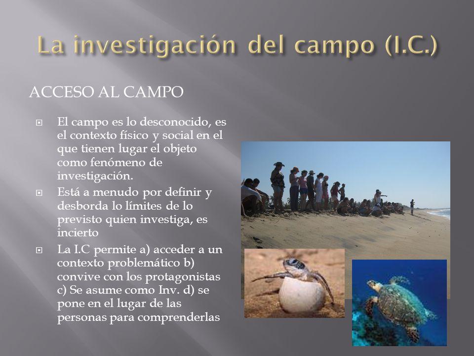 La investigación del campo (I.C.)