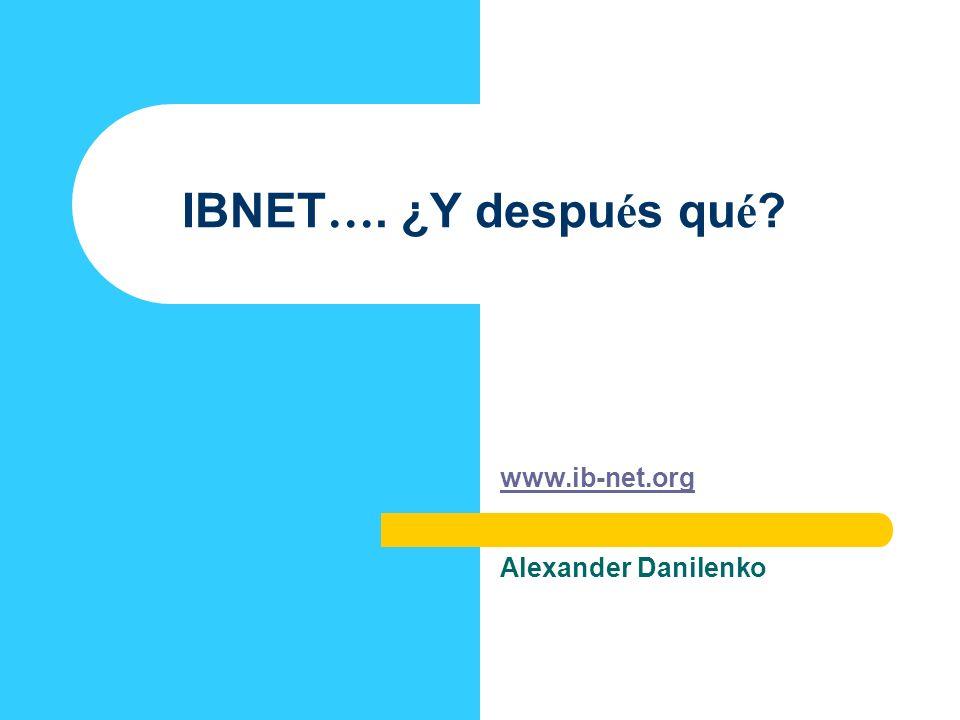 www.ib-net.org Alexander Danilenko