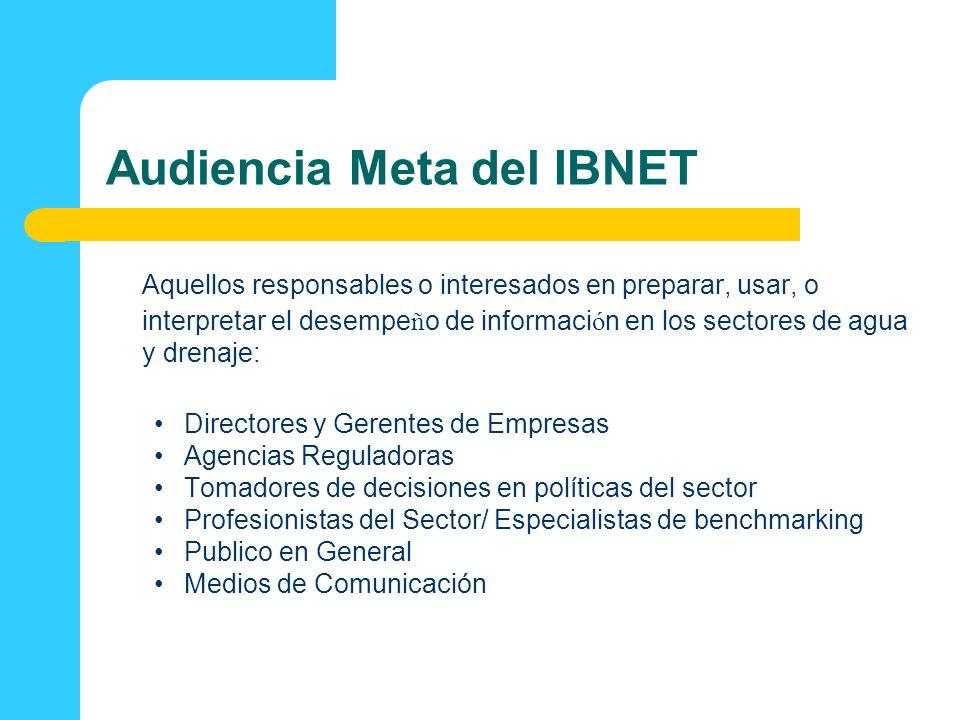 Audiencia Meta del IBNET