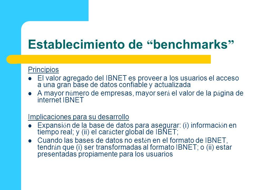 Establecimiento de benchmarks