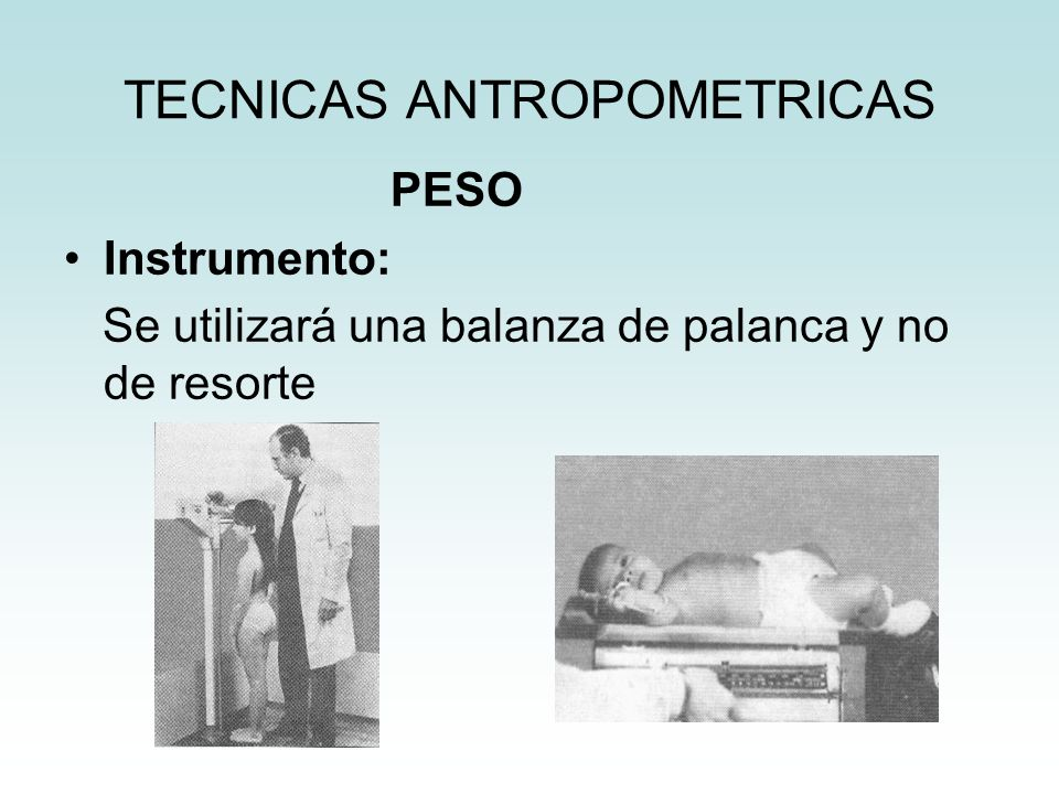 TECNICAS ANTROPOMETRICAS