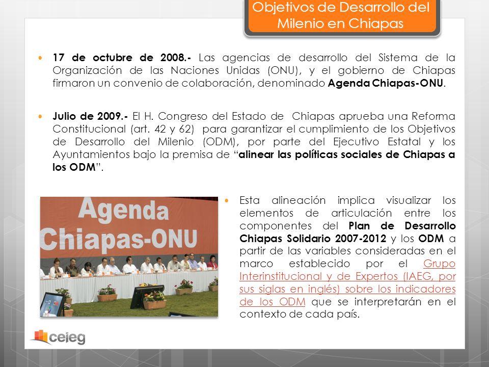 Objetivos de Desarrollo del Milenio en Chiapas