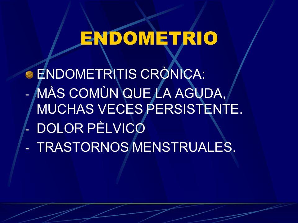ENDOMETRIO ENDOMETRITIS CRÒNICA:
