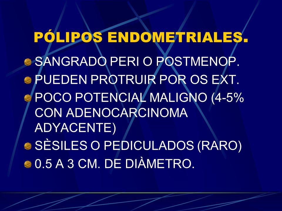 PÓLIPOS ENDOMETRIALES.