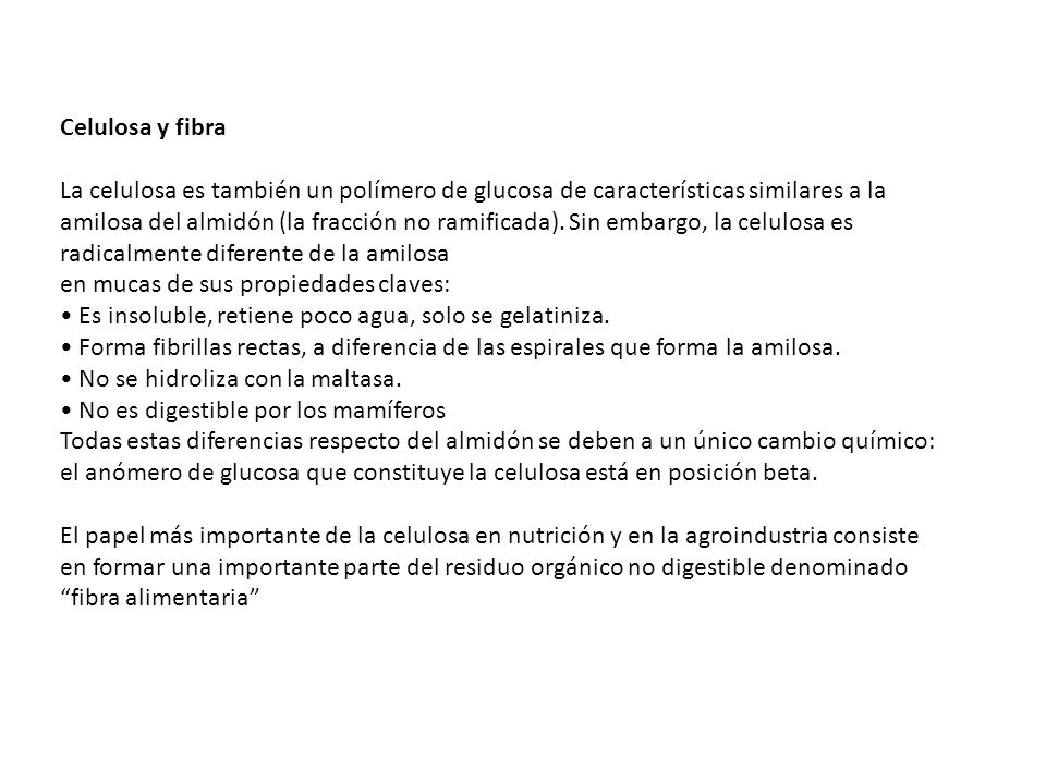 Celulosa y fibra