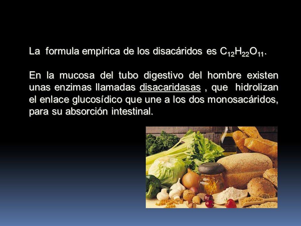 La formula empírica de los disacáridos es C12H22O11.