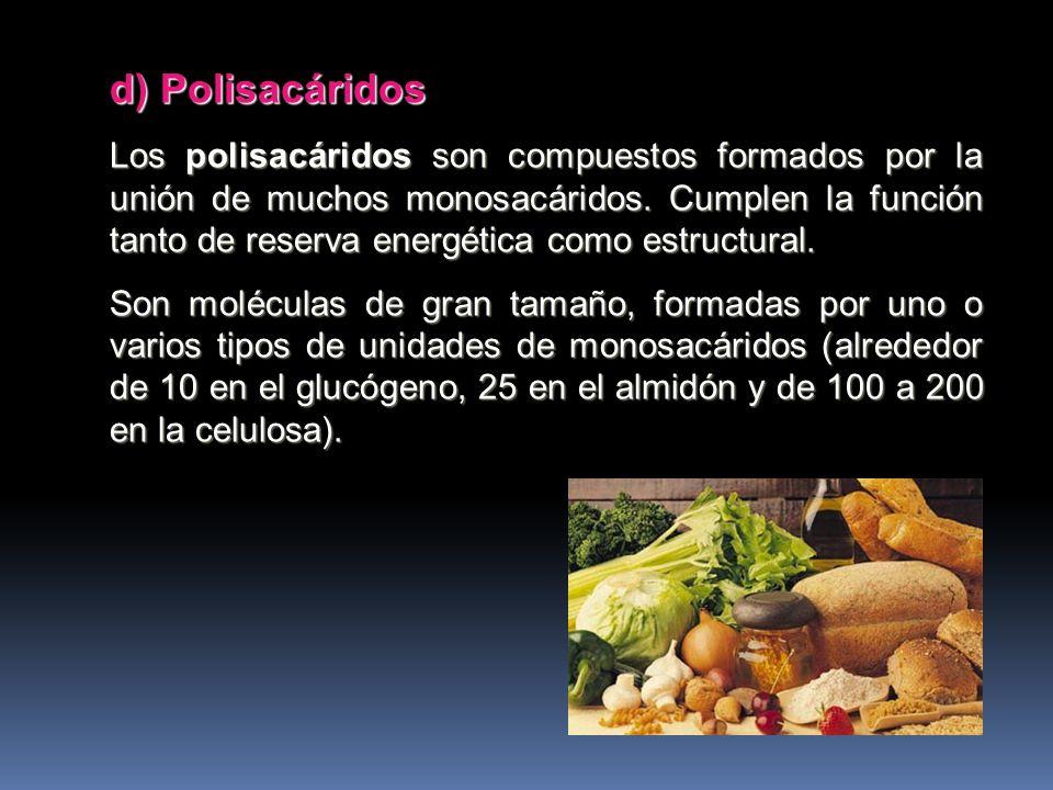 d) Polisacáridos